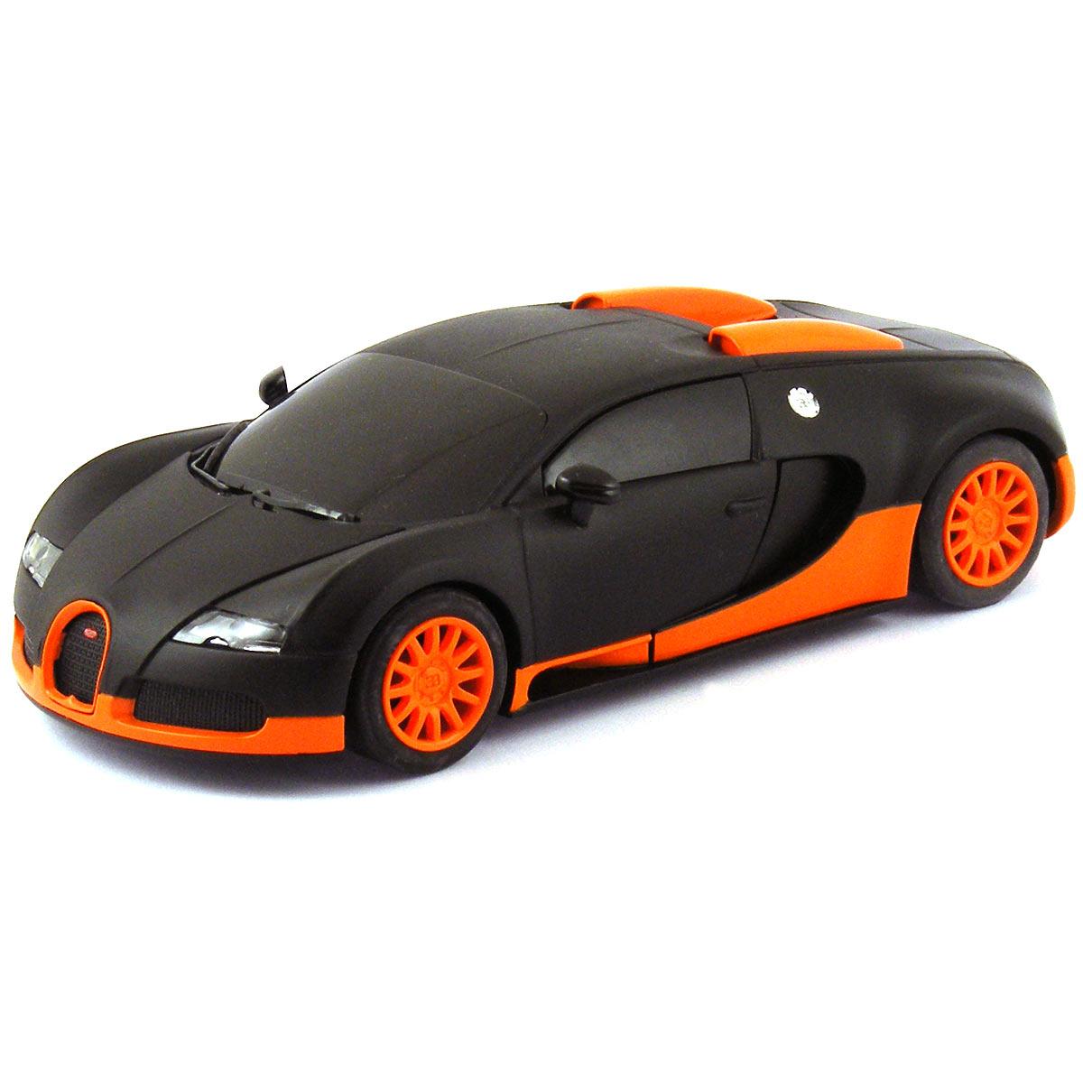 scalextric bugatti veyron matt black orange c3661. Black Bedroom Furniture Sets. Home Design Ideas