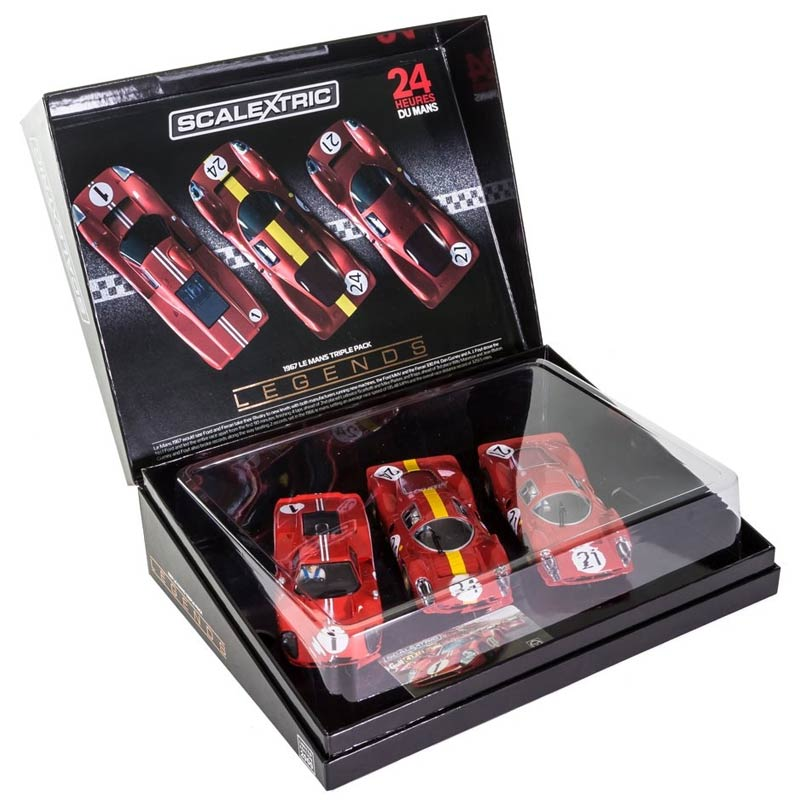 scalextric legends 1967 le mans triple pack limited edition c3892a. Black Bedroom Furniture Sets. Home Design Ideas