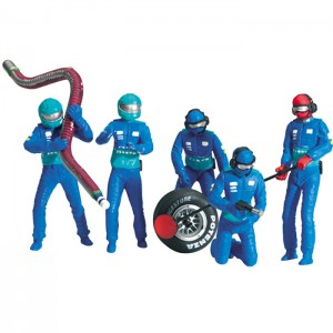 Carrera Mechanic Figures Blue/Green x5 21110