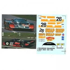 DMC Porsche 956 No.26 Swap Shop Le Mans 1984 Decals-2 24-319