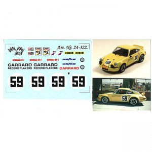 DMC Porsche 911 No.59 Sebring 1972 Decals 24-322