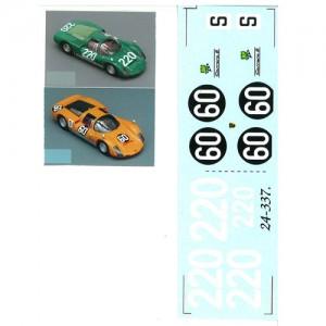 DMC Porsche 906 Decals 24-337