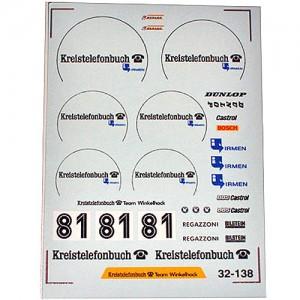 DMC BMW M1 Procar No.81 Kreistelefonbuch Decals-1 32-138