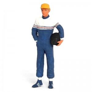 Figurenmanufaktur Racing Driver with Helmet Blue Figure