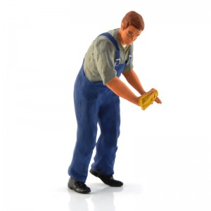 Figurenmanufaktur Mechanic Cleaner Blue Figure