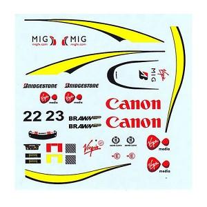All Slot Car Decal Button & Barrichello ASGP059