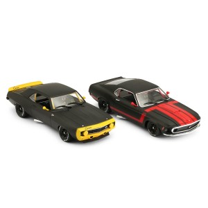 BRM 1/24 Mustang & Camaro Black Edition Twin Pack
