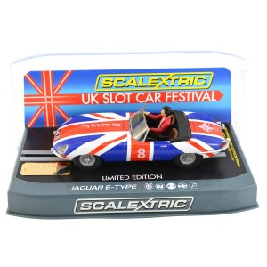 Scalextric Jaguar E-Type UK Slot Car Festival