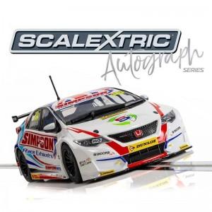 Scalextric Autograph Series Honda Civic Type R Matt Simpson