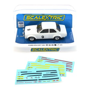 Scalextric Ford Escort MK1 Mexico White No.9 Limited Edition