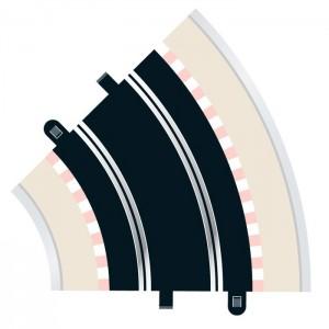 Scalextric Radius 2 Curve 45 degree x2 C8206