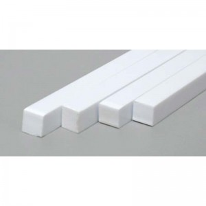 K&S Plastic Square Strip 0.250x250 Solid