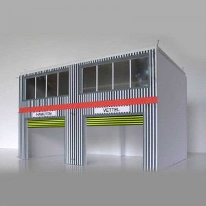 GP Miniatures Modern Pit Boxes