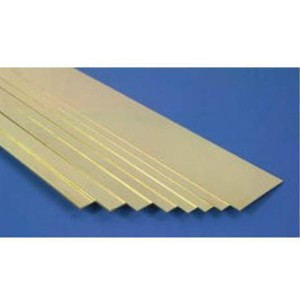 K&S Brass Strip 0.025x2 KS239