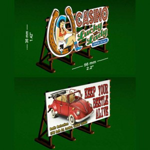 Proses Outdoor Billboards Lucky Lady & Beetle