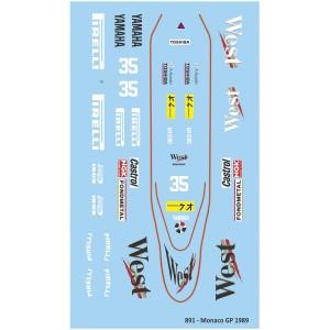Mitoos Zakspeed 891 Monaco GP No.35 Decals