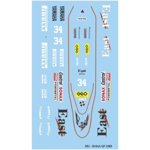 Mitoos Zakspeed 891 British GP No.34 Decals