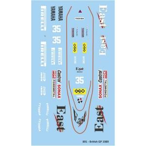 Mitoos Zakspeed 891 British GP No.35 Decals