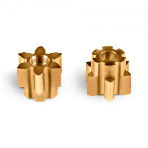 MR Slotcar Pinion Brass 6t 4.5mm Sidewinder 1.5mm MR4026