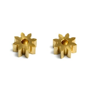 MR Slotcar Pinion Brass 8t 5.5mm Inline/Sidewinder 1.5mm