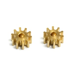 MR Slotcar Pinion Brass 10t 5.5mm Inline/Sidewinder 1.5mm