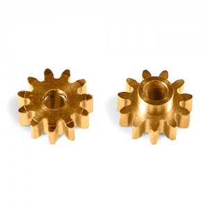 MR Slotcar Pinion Brass 11t 6.5mm Sidewinder 2.0mm MR4311