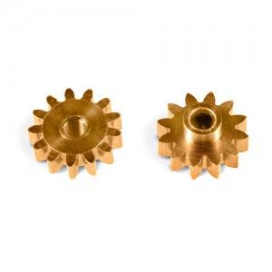 MR Slotcar Pinion Brass 12t 7.5mm Sidewinder 2.0mm MR4512