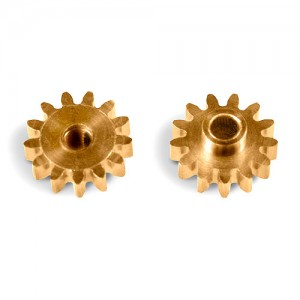 MR Slotcar Pinion Brass 13t 7.5mm Sidewinder 2.0mm MR4513