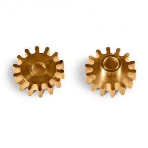 MR Slotcar Pinion Brass 14t 7.5mm Sidewinder 2.0mm MR4514