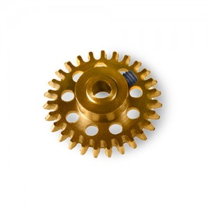 MR Slotcar Anglewinder Gear 25t 14.5mm Gold MR6525