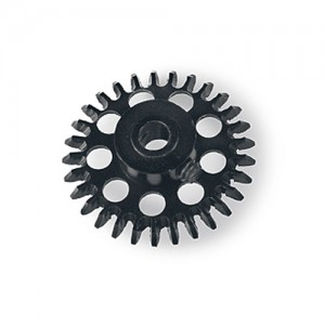 MR Slotcar Anglewinder Gear 27t 15.5mm Black MR6627