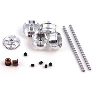 NSR Front & Rear SW Axle Kit with Large Wheels for Proslot NSR-4214