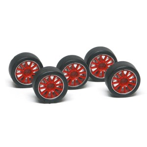 NSR Wheel Inserts 12 Spokes Red for Ø17 Wheels