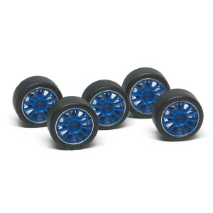 NSR Wheel Inserts 12 Spokes Blue for Ø17 Wheels