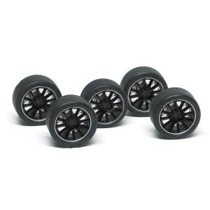 NSR Wheel Inserts 12 Spokes Black for Ø17 Wheels