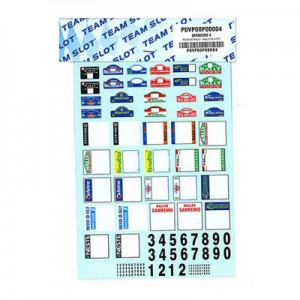 Team Slot Rally Plates & Numbers Decals P00004