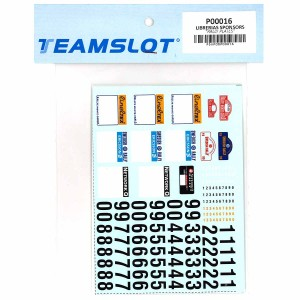 Team Slot Rally Plates Decals