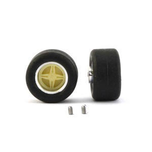 PCS Scalextric Replica F1/Saloon Small Wheels, Tyres & Inserts x2