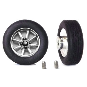 "PCS Classic 14"" Alloy Wheels & Tyres with Minilite Inserts x2"