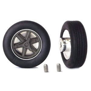 PCS Classic 14'' Alloy Wheels 14x5.7 6-Spoke & Tyres x2