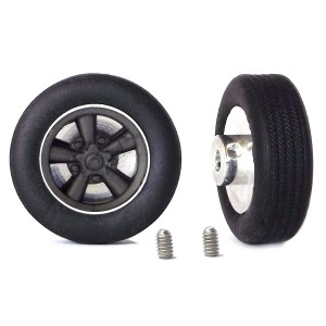 PCS Classic 14'' Alloy Wheels 14x5.7 Mag & Tyres x2