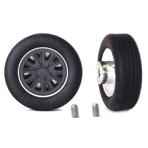 PCS Classic 14'' Alloy Wheels 14x5.7 Halibrand B & Tyres x2
