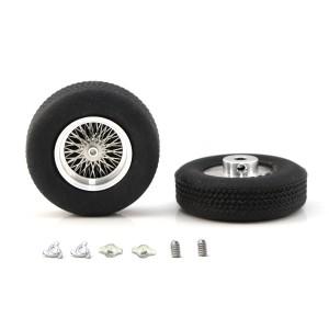 """PCS Classic Medium 16"""" Spoke Alloy Wheels & Tyres 22x8mm x2"""