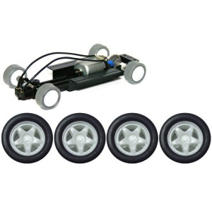 PCS 32 Complete Adjustable Chassis with 5 Spoke White Wheels PCS-32F