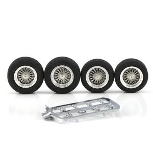 "PCS Classic 16"" Spoke Alloy Wheels & Tyres 22x7mm + 20x7mm x4"