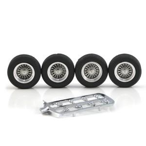 "PCS Classic 16"" Spoke Alloy Wheels & Tyres 22x9mm + 22x7mm x4"