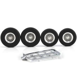 "PCS Classic 16"" Spoke Alloy Wheels & Tyres 26x6mm + 24x6mm x4"