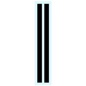 Penelope Pitlane Black Stripes Decals