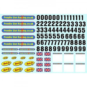 Pendle Slot Racing & Slot.it Race Decals PSR-D21
