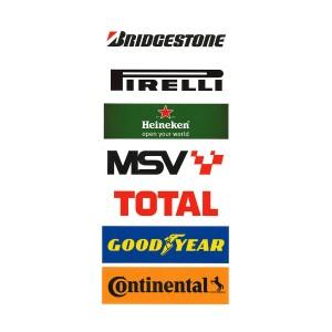 PSR Vinyl Stickers Track Logos C